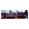 <strong>iCanvasArt</strong> Panoramic Amusement Park Lit up at Dusk, Navy Pier, Chicago, Illinois Photographic Print on Canvas