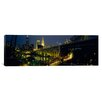iCanvas Panoramic Arch Bridge and Buildings Lit up at Night, Cleveland, Ohio Photographic Print on Canvas