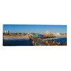 iCanvasArt Panoramic Amusement Park, Santa Monica Pier, Santa Monica, Los Angeles County, California Photographic Print on Canvas
