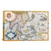 iCanvas Antique Map East Asia Graphic Art on Canvas