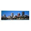 <strong>iCanvasArt</strong> Panoramic Buildings at the Waterfront, Genesee River, Rochester, Monroe County, 2011 Photographic Print on Canvas