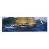 iCanvas Panoramic Yacht Racing in the Sea, Antigua, Antigua and Barbuda Photographic Print on Canvas