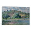 iCanvas 'Bords de la Seine a Port-Villez 1885' by Claude Monet Painting Print on Canvas