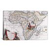 iCanvas Antique Map of Africa Graphic Art on Canvas