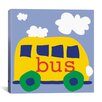 "<strong>iCanvasArt</strong> Erin Clark ""Yellow School Bus"" Canvas Wall Art"