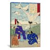 iCanvasArt Yoritomo Releasing Cranes on The Seashore Japanese Woodblock Graphic Art on Canvas
