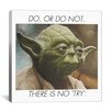 iCanvas Yoda Quote Canvas Wall Art