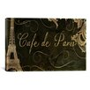<strong>iCanvasArt</strong> Color Bakery 'Café de Paris' Vintage Advertisement on Canvas