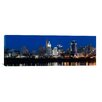 iCanvas Panoramic Cincinnati Skyline and John A. Roebling Suspension Bridge in The Ohio River, Hamilton County, Ohio Photographic Print on Canvas