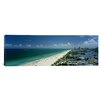 iCanvas Panoramic City at the Beachfront, South Beach, Miami Beach, Florida Photographic Print on Canvas