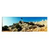 iCanvas Panoramic Byzantine Castle of Kalekoy with a Turkish National Flag, Turkey Photographic Print on Canvas