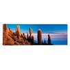 iCanvas Panoramic Cactus on a Hill, Salar De Uyuni, Potosi, Bolivia Photographic Print on Canvas