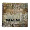 """iCanvas """"Cities of The World I"""" Canvas Wall Art from Color Bakery"""