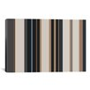 iCanvasArt Striped Charcoal Khaki Brown Graphic Art on Canvas