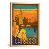 iCanvasArt 'Chicago, Illinois' by Anderson Design Group Vintage Advertisement on Canvas