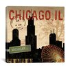 iCanvasArt Chicago Skyline II from Sparx Studio Canvas Wall Art