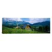 iCanvasArt Panoramic Chalet and a Church on a Landscape, Emmental, Switzerland Photographic Print on Canvas
