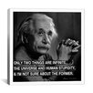 iCanvasArt Albert Einstein Quote Canvas Wall Art
