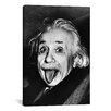 iCanvas Albert Einstein, Sticking His Tongue Out Print on Canvas