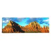 <strong>iCanvasArt</strong> Panoramic Chapel on Rock Formations, Chapel of The Holy Cross, Sedona, Arizona Photographic Print on Canvas