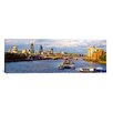iCanvas Panoramic Blackfriars Bridge, St. Paul's Cathedral in Thames River, London Photographic Print on Canvas