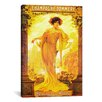 iCanvasArt Champagne Pommery Vintage Advertisement on Canvas