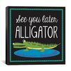 "<strong>iCanvasArt</strong> ""Alligator"" Canvas Wall Art by Erin Clark"