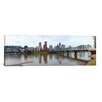 <strong>iCanvasArt</strong> Panoramic Bridge across a River with City Skyline in The Background, Willamette River, Portland, Oregon 2010 Photographic Print on Canvas