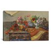 iCanvas 'Bouquets Et Ceramique Sur Une Commode 1886' by Paul Gauguin Painting Print on Canvas