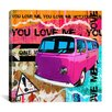 "iCanvasArt ""You Love Me"" by Luz Graphics Graphic Art on Canvas"