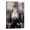<strong>iCanvasArt</strong> 'A Bar at The Folies Bergere' by Edouard Manet Painting Print on Canvas