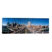 <strong>iCanvasArt</strong> Panoramic Brooklyn Bridge, New York City Photographic Print on Canvas