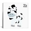 iCanvas Kids Art Z is for Zebra Graphic Canvas Wall Art