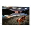 <strong>iCanvasArt</strong> 'A Bench with a View' by Bob Larson Photographic Print on Canvas