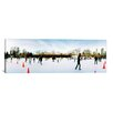 iCanvas Panoramic Tourists Ice Skating, New York City Photographic Print on Canvas