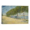 iCanvasArt 'Along the Seine' by Vincent van Gogh Painting Print on Canvas