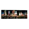 iCanvas Panoramic Buildings Lit Up at Night, Times Square, New York City Photographic Print on Canvas