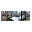 <strong>iCanvasArt</strong> Panoramic Rockefeller Center, Manhattan, New York City Photographic Print on Canvas