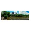 <strong>iCanvasArt</strong> Panoramic Pond in an Urban Park, New York City Photographic Print on Canvas