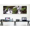 iCanvas Panoramic Cascading Waterfall in a Rainforest, Olympic National Park Photographic Print on Canvas