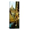 iCanvas Panoramic Cars Parked in a Street with a Cathedral in The Background, Via Dei Servi, Tuscany, Italy Photographic Print on Canvas