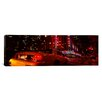 iCanvas Panoramic Car on a Road, Radio City Music Hall, Rockefeller Center, Manhattan Photographic Print on Canvas