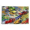 iCanvasArt Kids Children Cartoon Racing Cars Canvas Wall Art