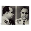 iCanvasArt Alphonse Gabriel Al Capone Mugshot - Chicago Gangster Outlaw Painting Print on Canvas
