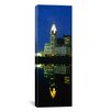 iCanvas Panoramic Buildings in a City Lit up at Night, Scioto River, Columbus, Ohio Photographic Print on Canvas