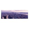iCanvasArt Panoramic Aerial View from Top of Empire State Building, Manhattan, New York City Photographic Print on Canvas