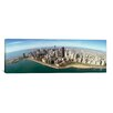 <strong>iCanvasArt</strong> Panoramic Aerial View of a City, Chicago, Cook County, Illinois 2010 Photographic Print on Canvas