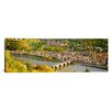 iCanvas Panoramic Aerial View of a City at the Riverside, Heidelberg Castle, Heidelberg, Baden-Wurttemberg, Germany Photographic Print on Canvas