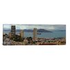 iCanvas Panoramic Buildings in a City with Alcatraz Island in San Francisco Bay, San Francisco, California Photographic Print on Canvas