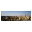 <strong>iCanvasArt</strong> Panoramic Aerial View of a Cathedral in a City, Duomo Di Milano, Lombardia, Italy Photographic Print on Canvas